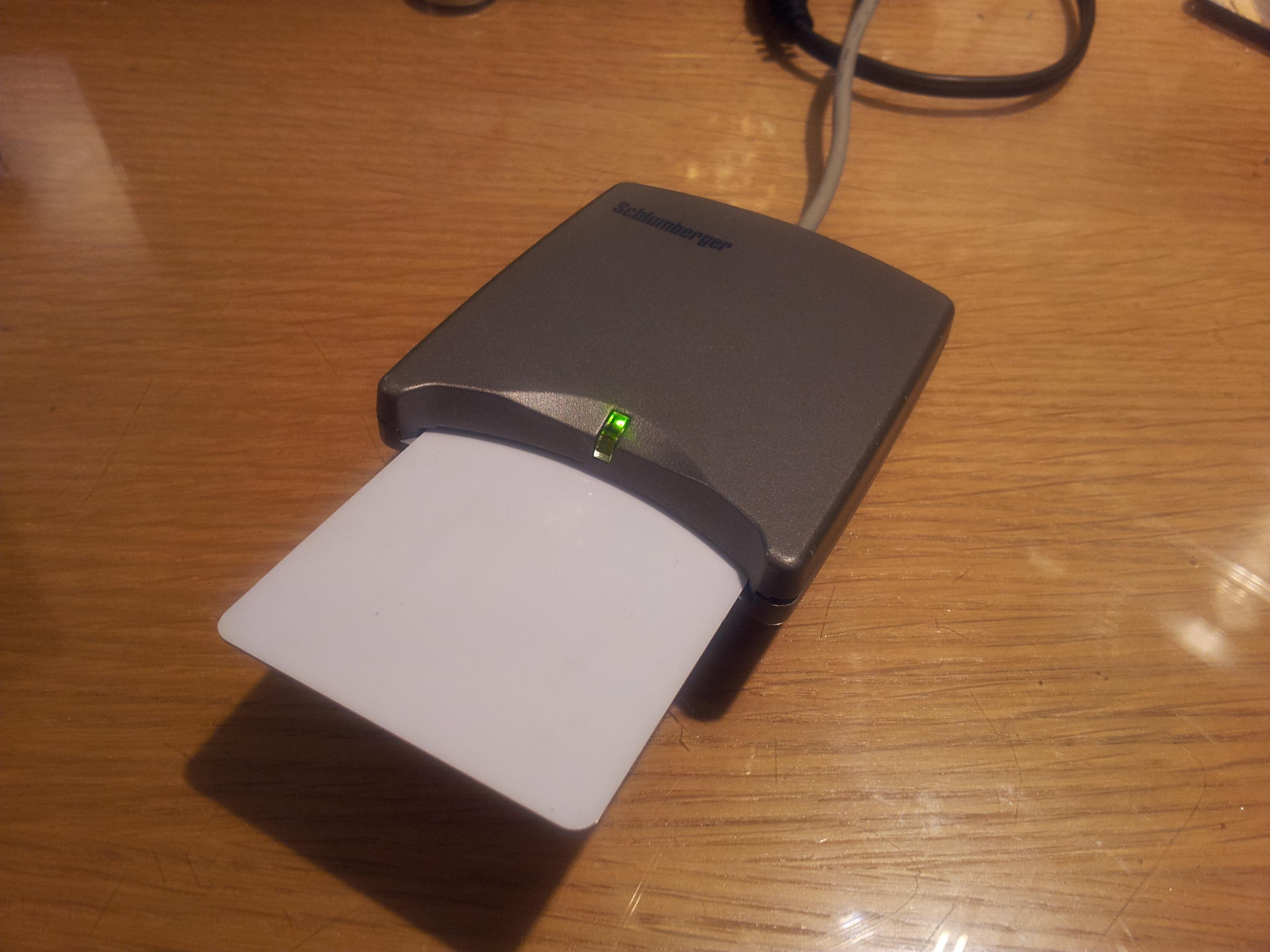 Slb reflex usb smart card reader