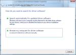 """Choose """"Browse my computer for driver software"""" as Windows will not be able to to auto-select the driver for you."""