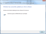 """Once you see """"Windows has successfully updated your driver software"""" your smart card reader should work properly now."""