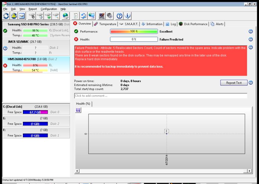 Screenshot of Hitachi Microdrive