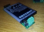 Holder for Samsung Galaxy S II battery