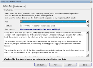 HD Sentinel's Refresh Data Area test