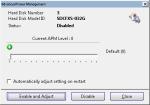 APM dialog in Hard Disk Sentinel