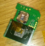 eMMC attached and soldered to SD card PCB.