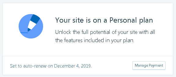 wordpress personal plan