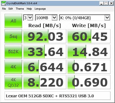 Lexar 512GB OEM Benchmark