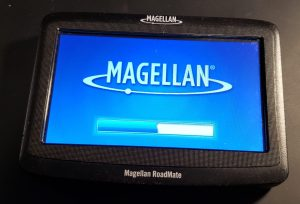 Magellan RoadMate 1412 starting up.