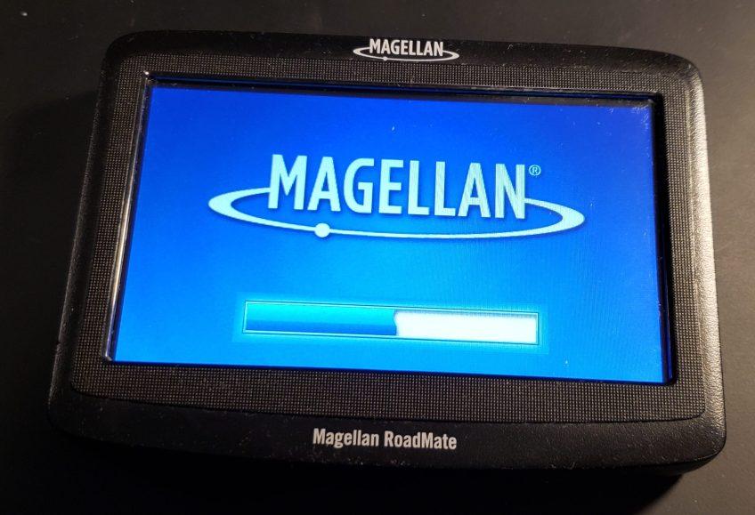 Magellan RoadMate 1412 starting up.