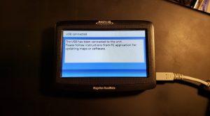 The Magellan RoadMate 1412 in USB mode.