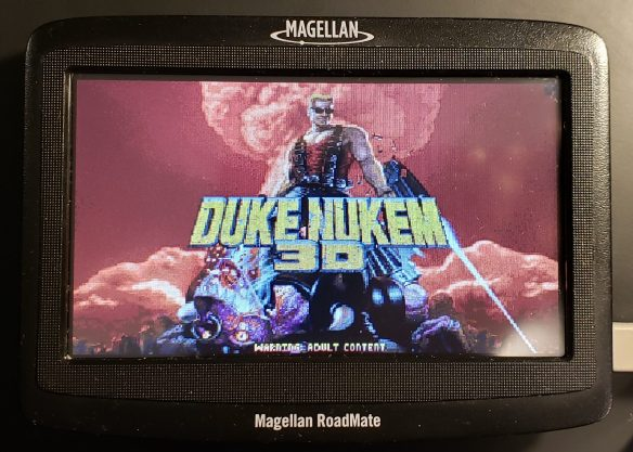 It also runs Duke Nukem 3D!